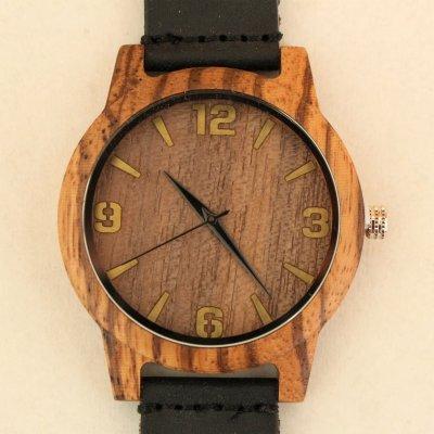【木の腕時計】天然木×本革 木のぬくもり 優しい感触 メンズ レディース 革バンドの色も選択可♪ 金属アレルギーで腕時計を諦めていた方にも【GF】