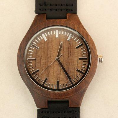【木の腕時計】天然木×本革 木のぬくもり 優しい感触 メンズ レディース 革バンドの色も選択可♪ 金属アレルギーで腕時計を諦めていた方にも【GH】
