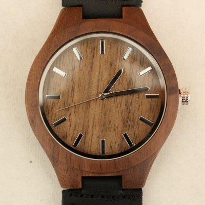 【木の腕時計】天然木×本革 木のぬくもり 優しい感触 メンズ レディース 革バンドの色も選択可♪ 金属アレルギーで腕時計を諦めていた方にも【GM】