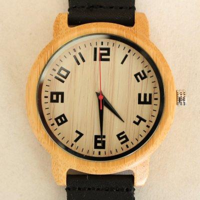 【木の腕時計】天然木×本革 木のぬくもり 優しい感触 メンズ レディース 革バンドの色も選択可♪ 金属アレルギーで腕時計を諦めていた方にも【KD】