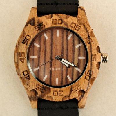 【木の腕時計】天然木×本革 木のぬくもり 優しい感触 メンズ レディース 革バンドの色も選択可♪ 金属アレルギーで腕時計を諦めていた方にも【KY】