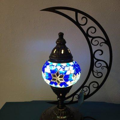 【貴重な三日月型ランプ】トルコモザイクヒラールランプ Sサイズ