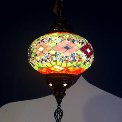 【オシャレな吊り下げランプ】トルコモザイクシーリングランプ Lサイズ