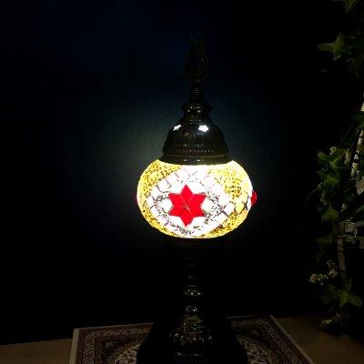 【人気のシンプルスタンドランプ】トルコモザイクスタンドランプ Sサイズ
