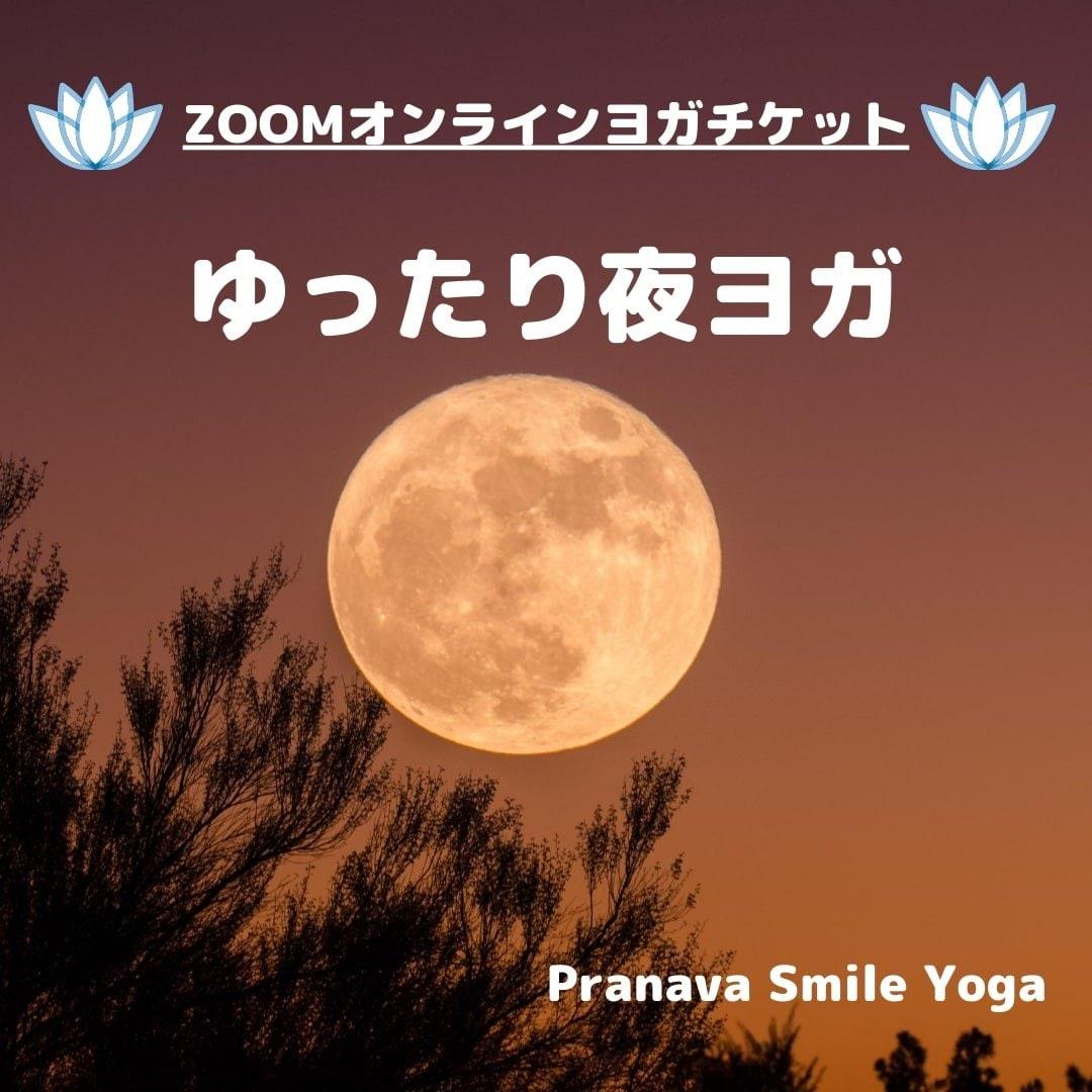 [zoomオンラインヨガ(30分レッスン)]【ゆったり夜ヨガ】のイメージその1
