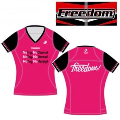 [女性用]【Freedom Pro オリジナル 限定受注生産】Apex Women's  ラントップ・Vネック