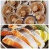 北海道産の天然新巻鮭&北海道産つぶ貝セット【送料無料】