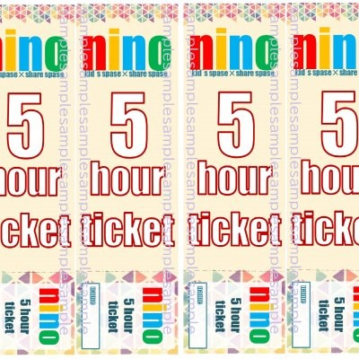【託児】5時間チケット50枚+7枚セット【古河市】