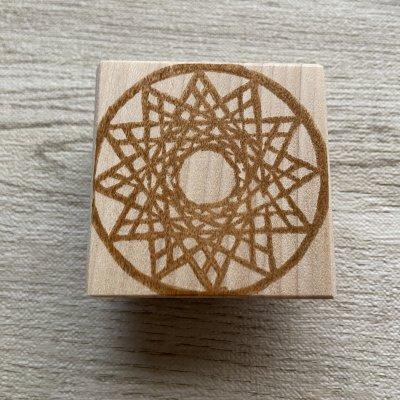 神聖幾何学12角形はんこ(5cm正方)