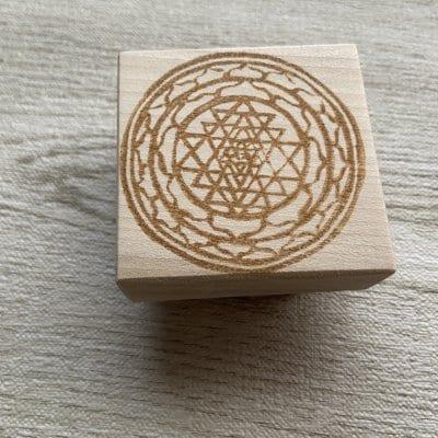 神聖幾何学ヤントラはんこ(5cm正方)