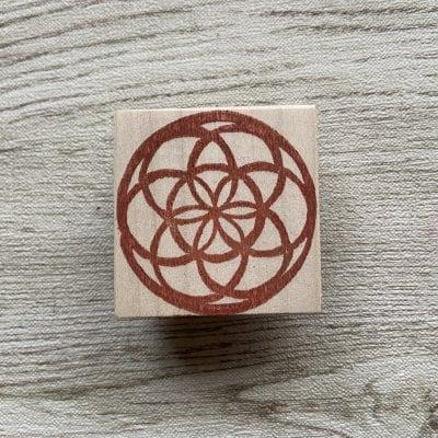 神聖幾何学シードオブライフはんこ(5cm正方)