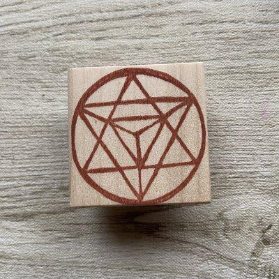 神聖幾何学マカバはんこ(5cm正方)