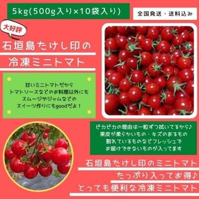 ≪冷凍≫5kg入り 石垣島たけし印のミニトマト(500g×10袋) 数量限定!