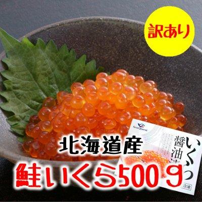 【訳あり処分】北海道産鮭子いくら醤油漬500g/数量限定/冷凍