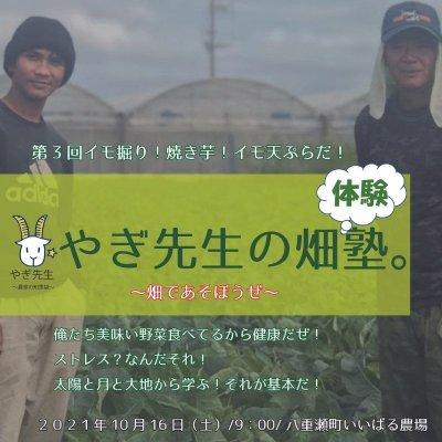 [第3回]【2021年10月16日(土)9:00〜】🐐やぎ先生の畑体験塾🥬