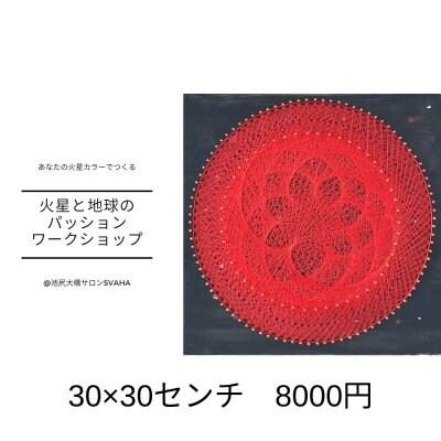 火星と地球のパッション糸かけ30×30センチ