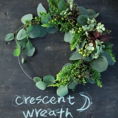 秋の夜長の‥‥crescent wreath☽