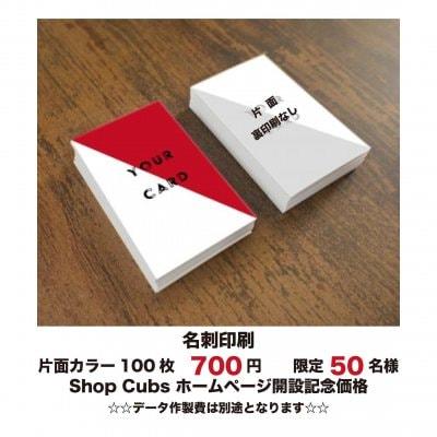 期間限定!格安名刺印刷《片面カラー》100枚