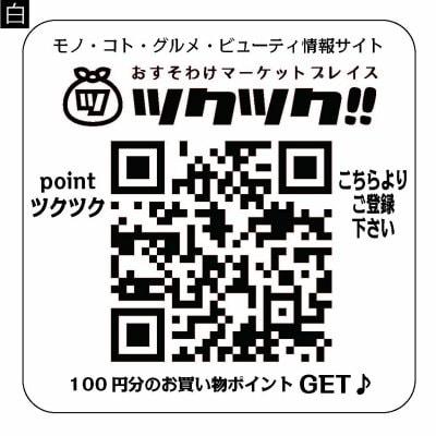 QRコードステッカー(耐水)2枚セット/テンプレート/ホームタグQR・ショ...