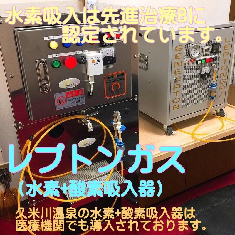 【定期購入】レプトンガス(水素+酸素吸入)90分吸引+温泉入浴付きサブスクリプションのイメージその1