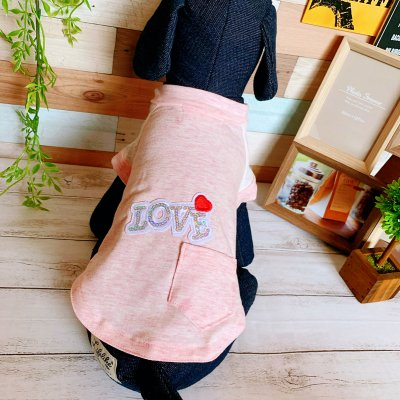 【ピンク】レース袖ラグランTシャツ