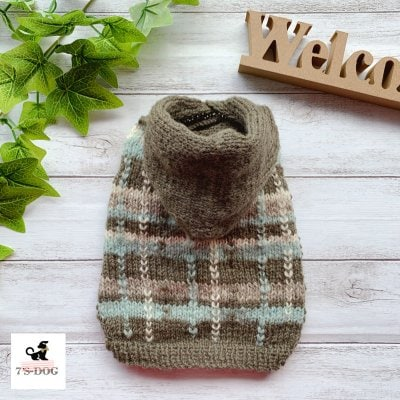 ⦅★special★⦆チェック模様フード付きセーター