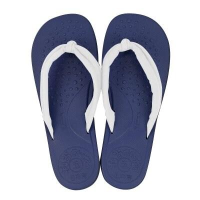 【和尚さんだる】藍/白 サイズ⑤(25.0〜26.5cm) 和尚さんプロデュース!鼻緒が痛くなりにくい快適普段ばき