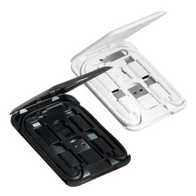 【2個セット】AndroidもiPhoneも! 極薄1cmのカード1枚に充電ケーブル6種をフルセット!「スマートリンクカード」 スマホスタンド Lightning TypeC タイプC USB マイクロUSB 持ち歩き ミニマリスト