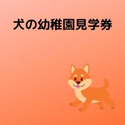 犬の幼稚園見学&体験できるチケット