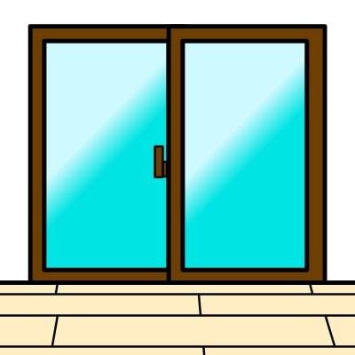 【WEB限定特価】(掃き出し窓サイズ)飛散防止フィルム施工チケット