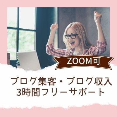 ブログ集客・ブログ収入サポート(3時間)