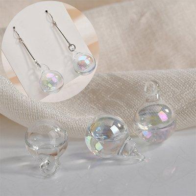 水入り ボール形状ガラスビーズ 2個