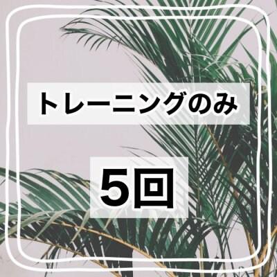 【トレーニングのみ】5回