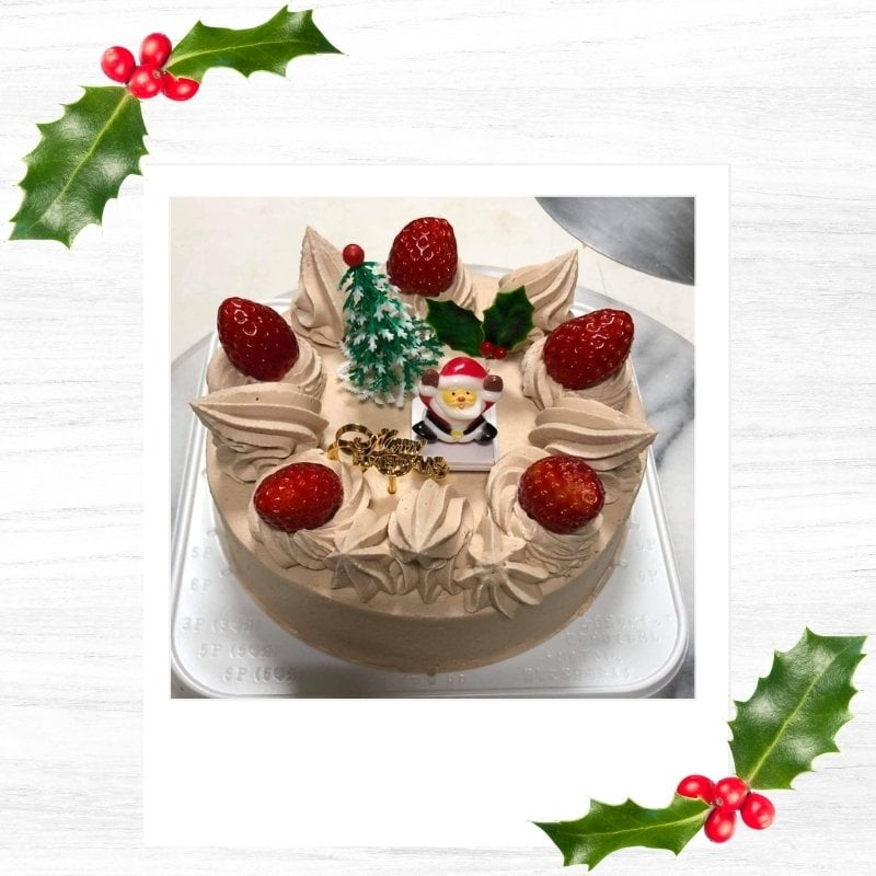 うさぎや特製クリスマスケーキ 5号  15cm チョコ生クリームのイメージその2
