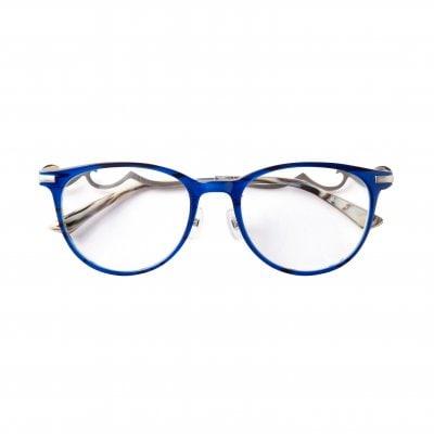 さばえメガネ Bell-Acua(ベル・アクア)【オシャレ】 ブルーホワイト+シャーリングシルバー