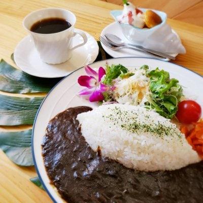【極✧きわめ✧黒カレー】耳納連山の湧き水仕込み・カレーカフェの絶品黒...