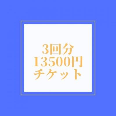 3回分チケット13500円