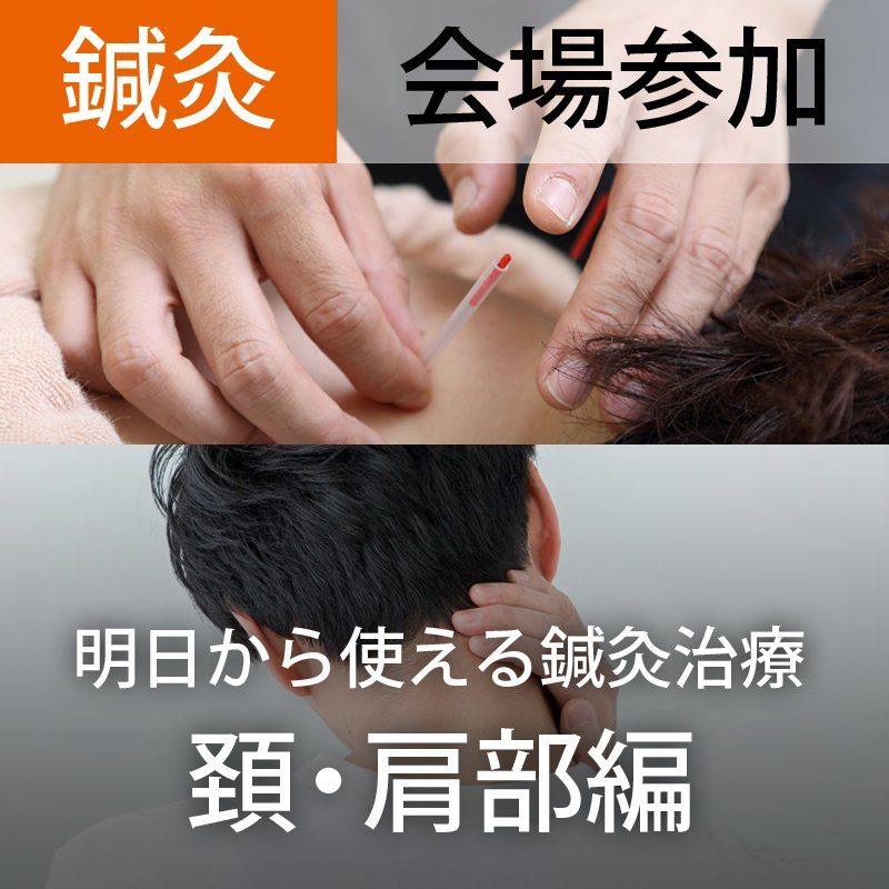 会場参加【第2回】明日から使える鍼灸治療(頚肩部編)〜部位ごとの鍼灸治療法を身につける〜のイメージその1