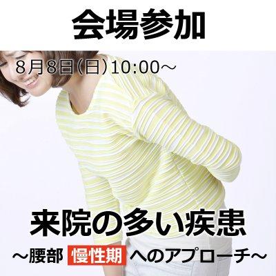 【会場参加】来院の多い疾患〜腰部(慢性期)へのアプローチ〜