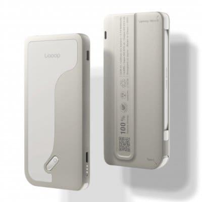 【店頭販売限定】Looop Charge モバイルバッテリー 4000mAh(PSE認証済み)