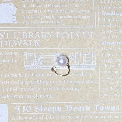 【14KGF】アコヤ真珠と水晶のイヤーカフス