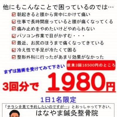 キャンペーン価格【施術3回分】【現地払い専用】