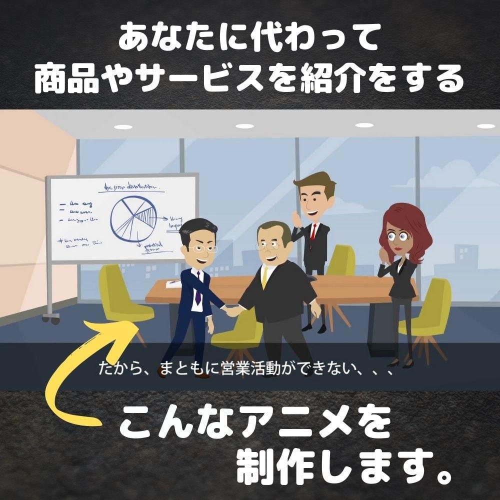 あなたのお店や商品を紹介する【60秒間/約10シーン】のビジネスアニメーションを制作します!のイメージその5