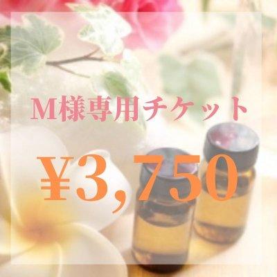 【現地払い専用】M様専用チケット¥3750