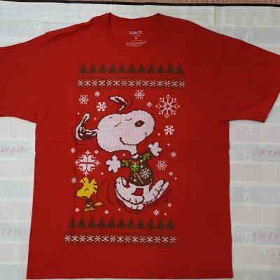【ビンテージ・Tシャツ XLサイズ】クロスステッチ ピーナッツ