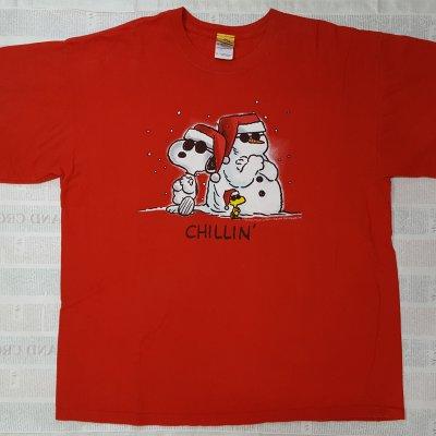 【ビンテージ・Tシャツ XLサイズ】雪だるまと一緒 ピーナッツ