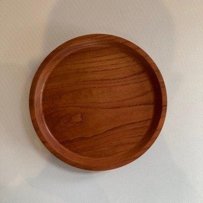 お盆《小さめ》ケンポナシ材 無垢材一枚板 日本の手づくり ウッド リビング キッチン プレゼント