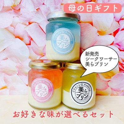 【母の日ギフト】海2個+桜2個+黄2個〜美らプリン選べるアソート6個...