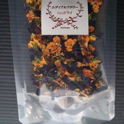 鳥取県産ドライエディブルフラワー(食用花)  Paraドライ(ビオラ) 色(オレンジ&紫) 内容量2g