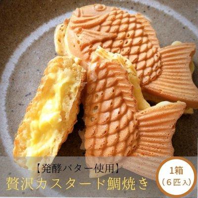 鯛焼き ( たい焼き ) 贅沢カスタード鯛焼き 1箱(6匹入り)